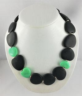 Jadeit (Jade schwarz) - Halskette