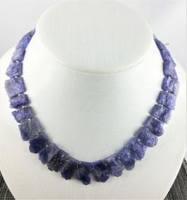 Tansanit (Zoisit) - Halskette