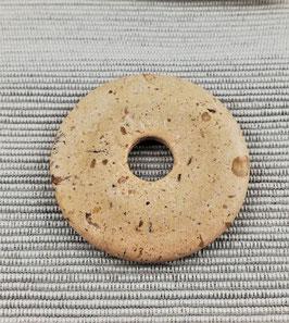 Jaspis braun-grau (Bilder-Jaspis)- Pi-Scheibe