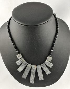 Picasso-Marmor (Kalkstein) - Halskette