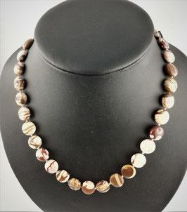 Jaspis beige-braun, (Cappuchino-Jaspis) - Halskette