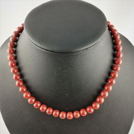 Jaspis braun - Halskette