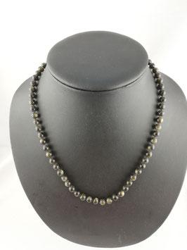 Obsidian (Goldobsidian) - Halskette