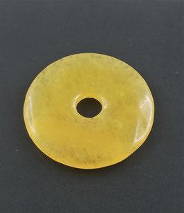 Calcit gelb Zitronencalcit- Pi-Scheibe