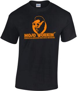 CAMISETA MOJO WORKIN'  Muddy Waters - Negro + Naranja
