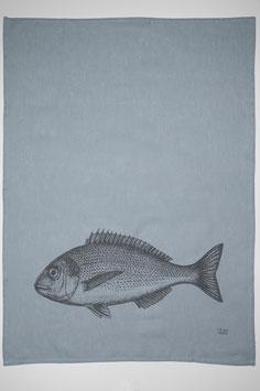 17;30 Geschirrtuch Halbleinen Fisch