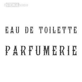 """Schablone """"Parfumerie"""""""