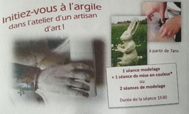 carte cadeau modelage + émaillage