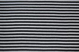 Bündchen - schwarz weiß geringelt