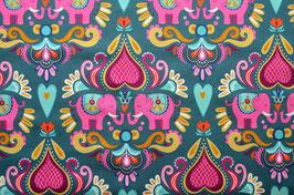 BW HHL Elephant Love petrol/pink