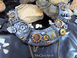 Steampunk Collier Statement Kette Timelady