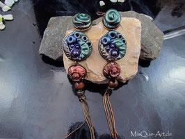 Antike Ohrringe Vintage Optik Bunt