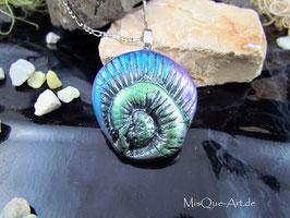 Halskette Talisman Regenbogen Spirale Schnecke Glücksbringer
