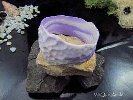 Armreif weiss lila Durchmesser ca. 7 cm flexibel passend für alle Arme