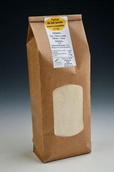 Farine semi-complète de blé tendre T110 ou complète T150