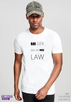 T-shirt Wit Mi Gek Ma Mi No Lauw NR002