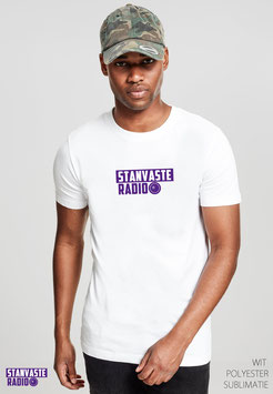 T-shirt Wit met Logo Stanvaste NR001