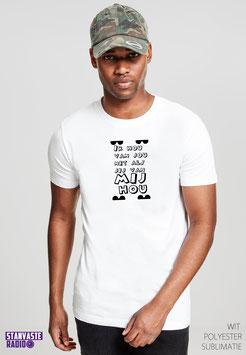 T-shirt Wit IK HOU VAN JOU NR008