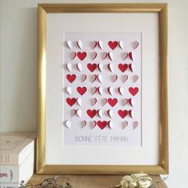 Affiche coeurs avec texte