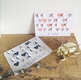 Cartes postales coeurs