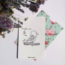 Carte à gratter toucan