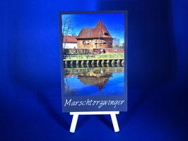 Holzquadrat Hansestadt Buxtehude, 10x15x1,9 cm, Art. #BUX030