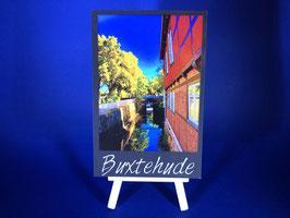 Holzquadrat Hansestadt Buxtehude, 10x15x1,9 cm, Art. #BUX026