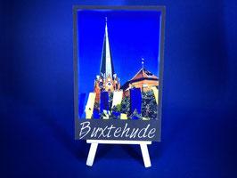Holzquadrat Hansestadt Buxtehude, 10x15x1,9 cm, Art. #BUX028