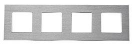Design glas of aluminium frame in glas of aluminium compleet met  4 schakelaars of andere componenten