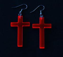 """Ohrringe / earrings """"Cross"""" (Paar/pair)"""