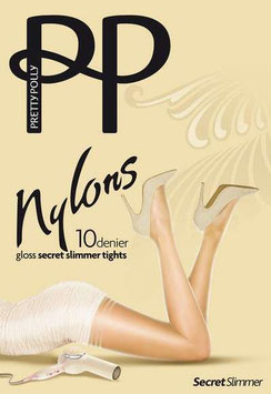 Pretty Polly Nylons Gloss Secret Slimmer Tights - Nude Sherry