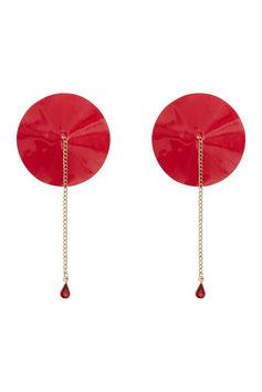 Chain Detail Nipple Pastie Red