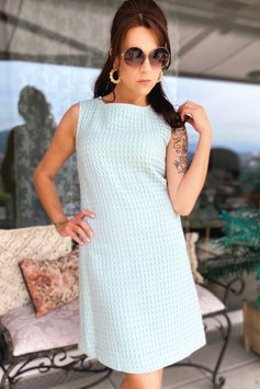 ChupChup 60s Twiggy Dress - Pale Blue