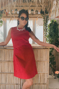 Chup Chup 60s Twiggy Dress - Red (Limited Summer Edition)