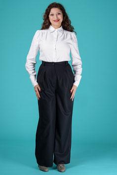 The 40s Work Pants - Black Wool