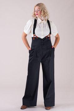 The Miss Fancy Pants Slacks - Black Rib Weave