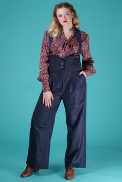 The Miss Fancy Pants Slacks - Navy Pinstripe