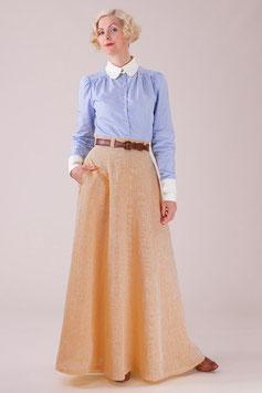 The Immortal Maxi Skirt. Mellow Yellow Chambray
