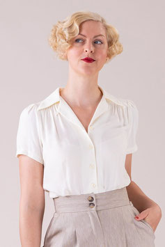 That Same Old Favorite Blouse -  Cream Chambray