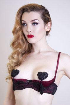 Heart Nipple Pastie Black