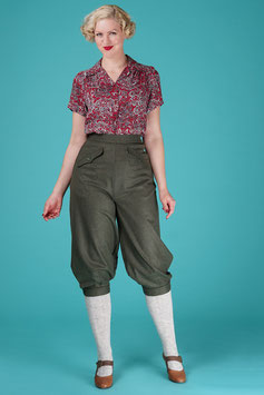 The Knock Out Knickerbockers - Pine Green Wool