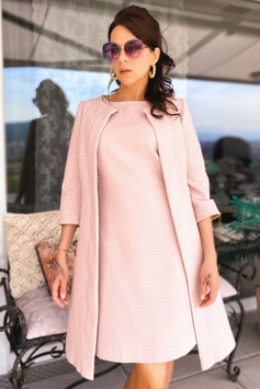ChupChup 60s Bridget Coat - Dusty Pink