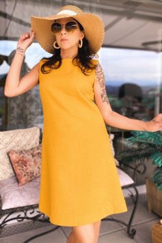 ChupChup 60s Twiggy Dress - Ocher