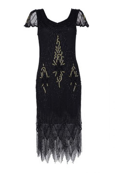 Gatsby Dress black with gold