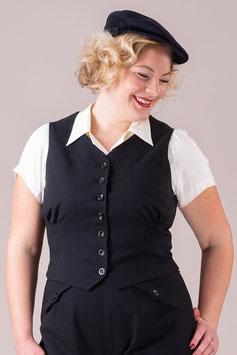 The Gentlewoman Waistcoat - Black Twill