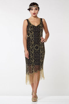 Gatsby black/gold Fringe