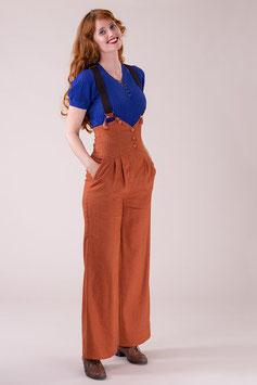 The Miss Fancy Pants Slacks - Cinnamon Linen