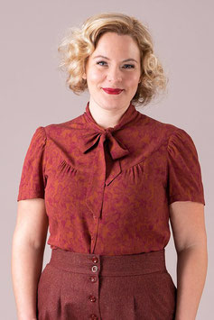 The Business Babe Blouse - Maple Leaf