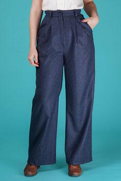 The 40s Work Pants - Blue Stripe