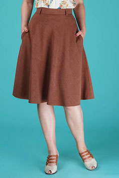 The Jazzy A-line Skirt Brown Melange